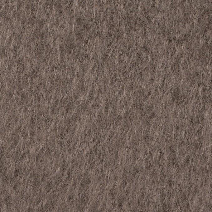 ウール×無地(アッシュブラウン)×シャギー イメージ1