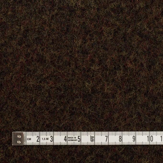 ウール×ミックス(カーキ&ブラウン)×メルトン イメージ4