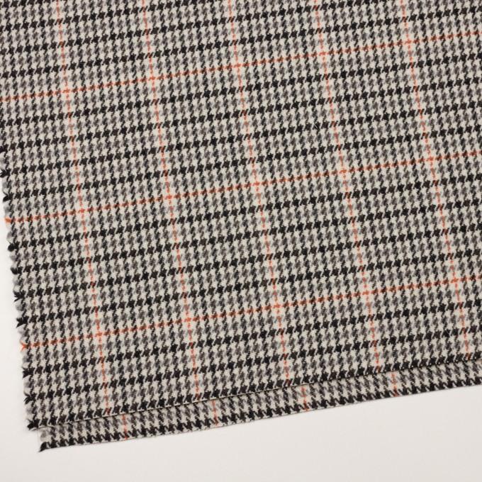 ウール×チェック(エクリュ、グレー&オレンジ)×ツイード イメージ2