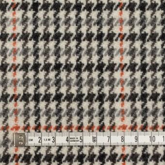 ウール×チェック(エクリュ、グレー&オレンジ)×ツイード サムネイル4