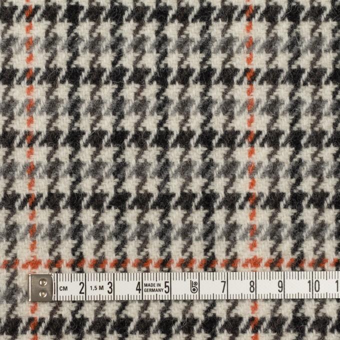 ウール×チェック(エクリュ、グレー&オレンジ)×ツイード イメージ4