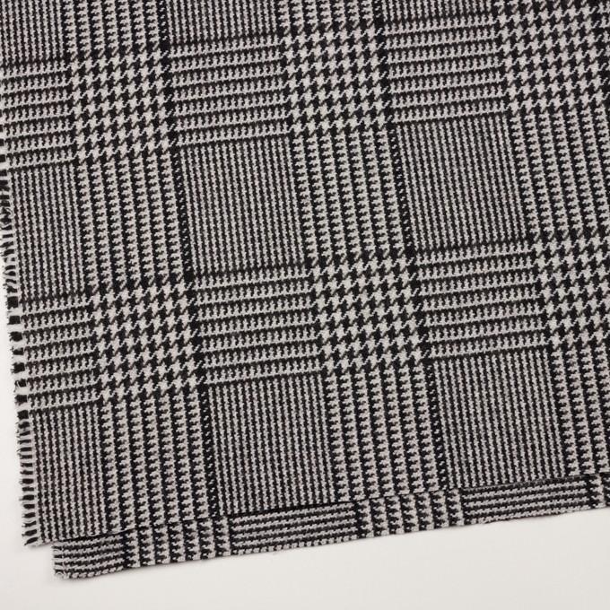 ウール&ポリエステル×チェック(アイボリー&ブラック)×ファンシーツイード イメージ2