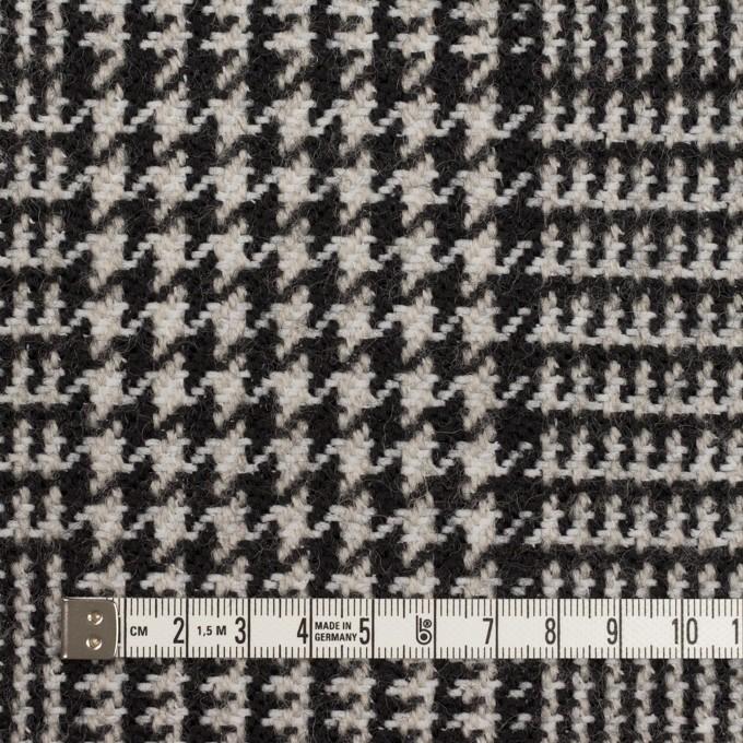 ウール&ポリエステル×チェック(アイボリー&ブラック)×ファンシーツイード イメージ4