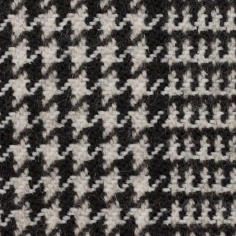 ウール&ポリエステル×チェック(アイボリー&ブラック)×ファンシーツイード サムネイル1