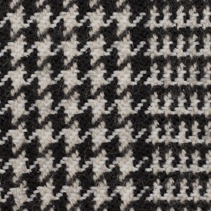 ウール&ポリエステル×チェック(アイボリー&ブラック)×ファンシーツイード イメージ1