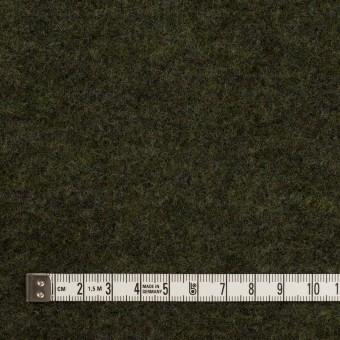 ウール&ナイロン×無地(アイビーグリーン)×ループニット サムネイル4