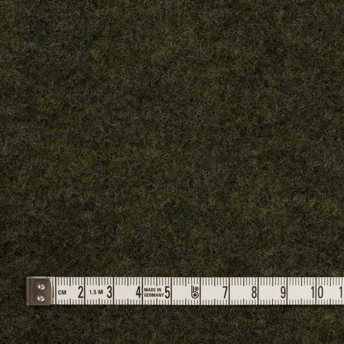 ウール&ナイロン×無地(アイビーグリーン)×ループニット イメージ4