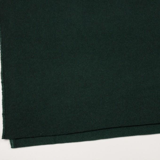 ウール&ポリエステル混×無地(モスグリーン)×フリースニット イメージ2