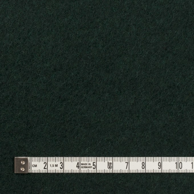 ウール&ポリエステル混×無地(モスグリーン)×フリースニット イメージ4