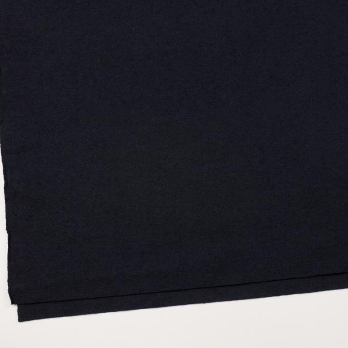 ウール&ナイロン×無地(ダークネイビー)×圧縮ループニット イメージ2