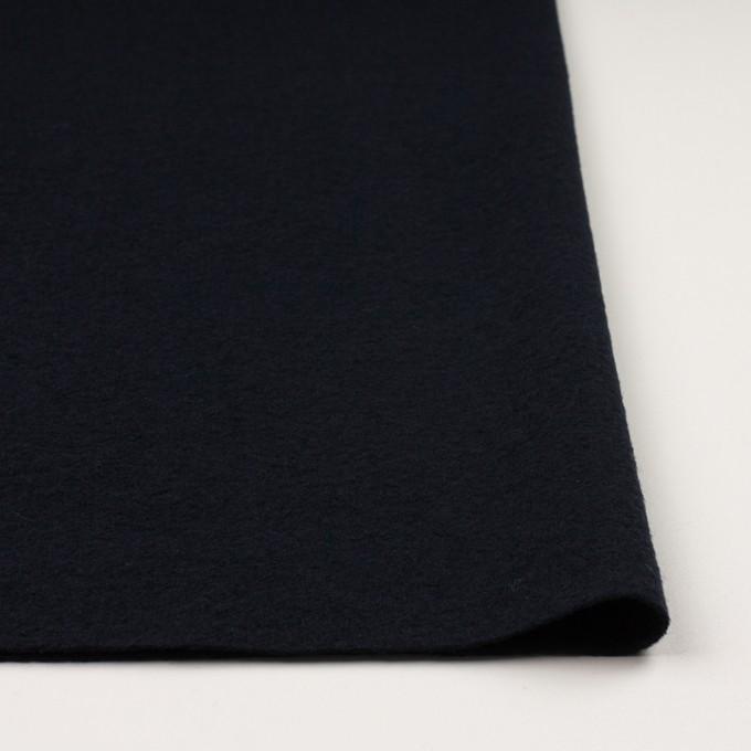 ウール&ナイロン×無地(ダークネイビー)×圧縮ループニット イメージ3