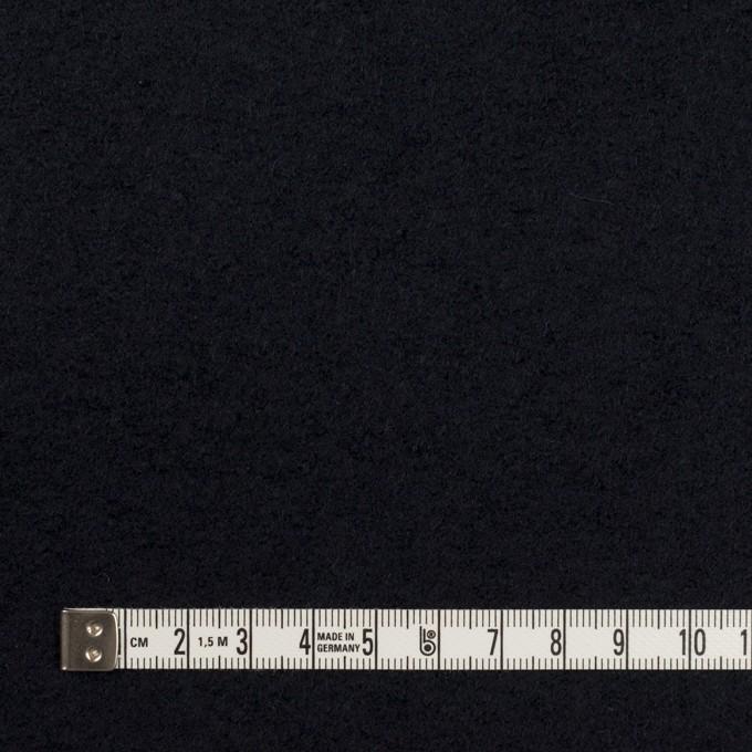 ウール&ナイロン×無地(ダークネイビー)×圧縮ループニット イメージ4