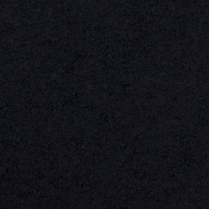 ウール&ナイロン×無地(ダークネイビー)×圧縮ループニット イメージ1