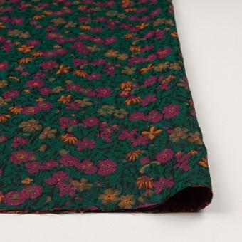 ポリエステル&アクリル混×フラワー(モスグリーン、ピンク&オレンジ)×フクレジャガード_フランス製 サムネイル3