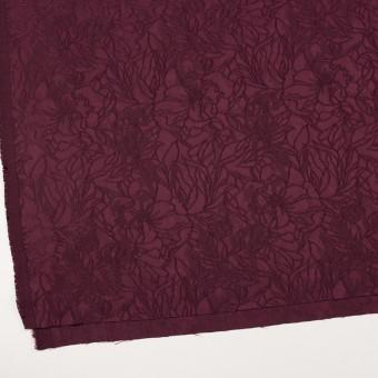 レーヨン&ポリエステル×フラワー(バーガンディー)×サテンジャガード_全3色 サムネイル2