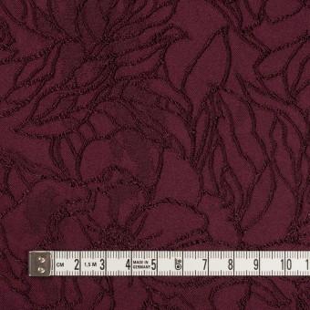 レーヨン&ポリエステル×フラワー(バーガンディー)×サテンジャガード_全3色 サムネイル4