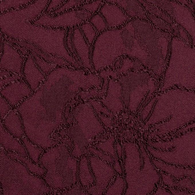 レーヨン&ポリエステル×フラワー(バーガンディー)×サテンジャガード_全3色 イメージ1