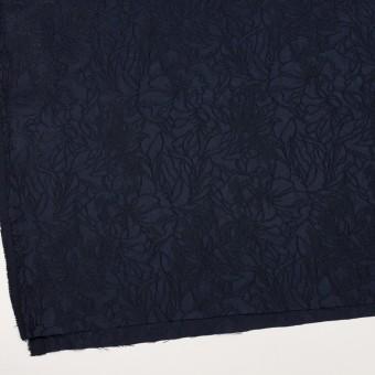 レーヨン&ポリエステル×フラワー(ネイビー)×サテンジャガード_全3色 サムネイル2