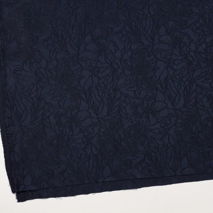 レーヨン&ポリエステル×フラワー(ネイビー)×サテンジャガード_全3色 イメージ2