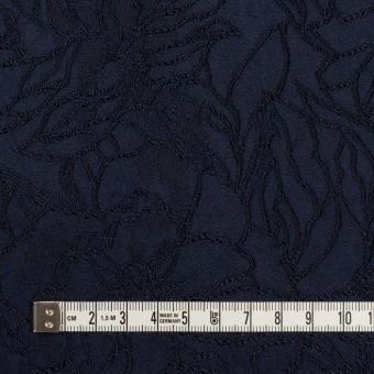レーヨン&ポリエステル×フラワー(ネイビー)×サテンジャガード_全3色 サムネイル4
