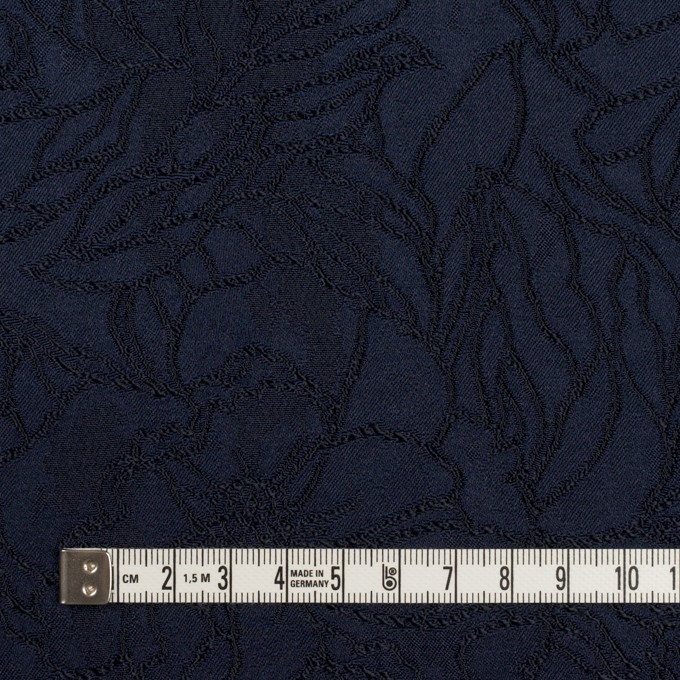 レーヨン&ポリエステル×フラワー(ネイビー)×サテンジャガード_全3色 イメージ4