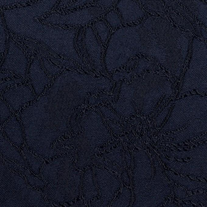 レーヨン&ポリエステル×フラワー(ネイビー)×サテンジャガード_全3色 イメージ1