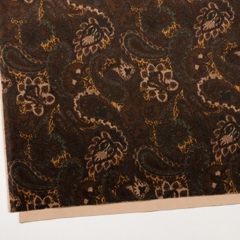 コットン&ポリウレタン×ペイズリー(ブラウン)×ベッチンストレッチ_全2色 サムネイル2