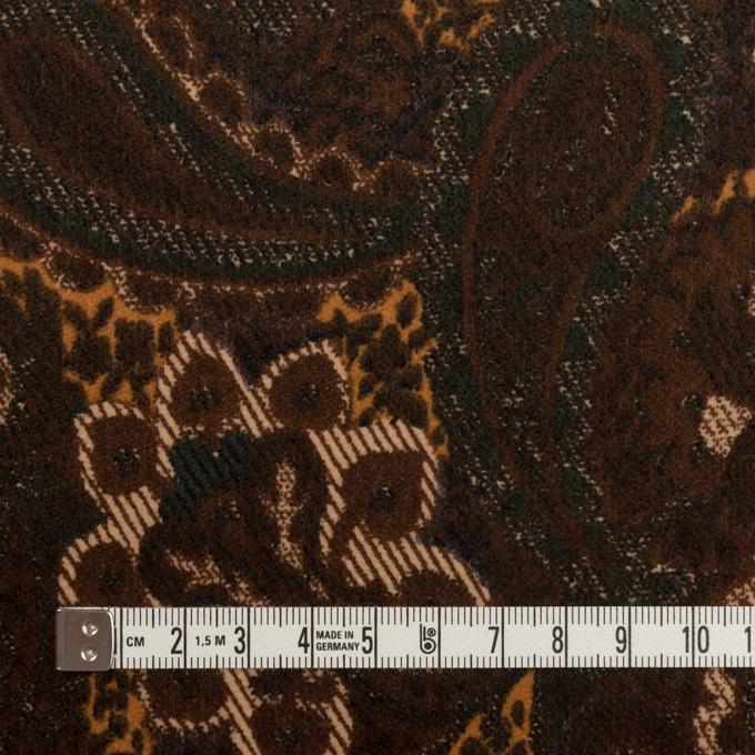 コットン&ポリウレタン×ペイズリー(ブラウン)×ベッチンストレッチ_全2色 イメージ4