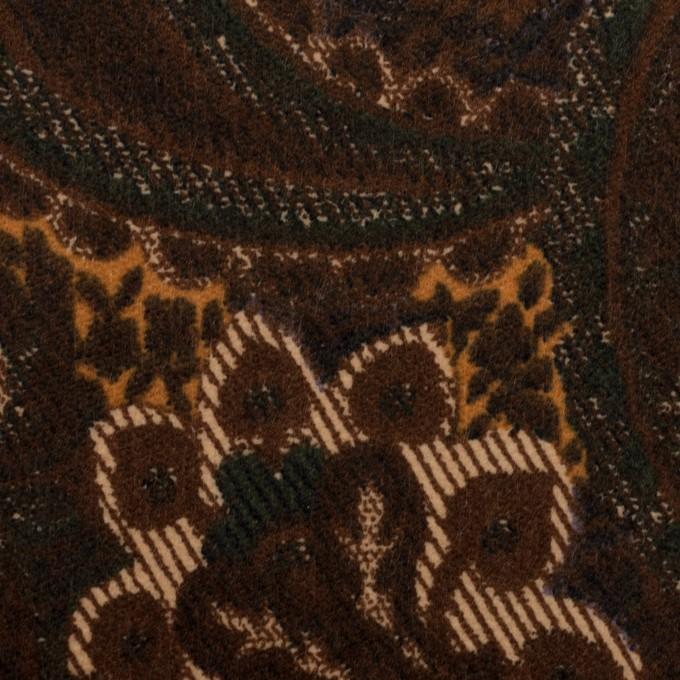 コットン&ポリウレタン×ペイズリー(ブラウン)×ベッチンストレッチ_全2色 イメージ1