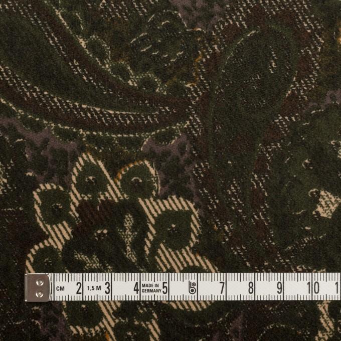 コットン&ポリウレタン×ペイズリー(グリーン)×ベッチンストレッチ_全2色 イメージ4