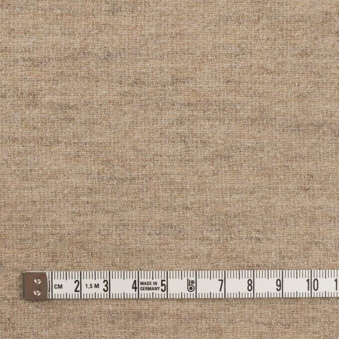 ウール&リネン×無地(グレイッシュベージュ)×二重織 イメージ4