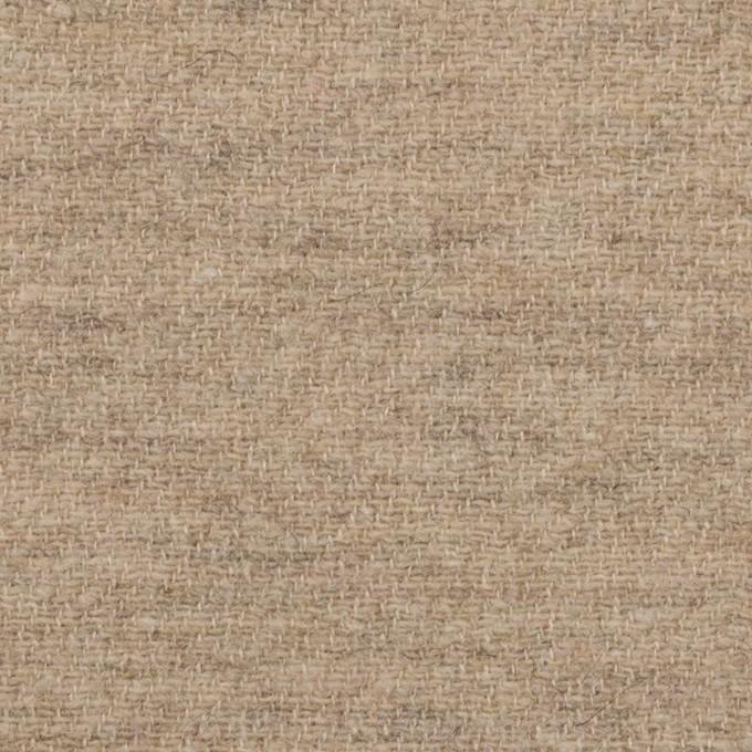 ウール&リネン×無地(グレイッシュベージュ)×二重織 イメージ1