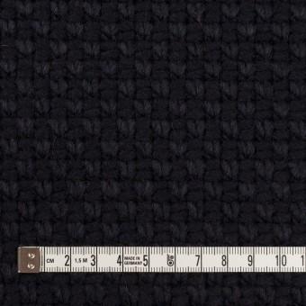 ウール&ポリエステル×無地(ダークネイビー)×斜子織 サムネイル4