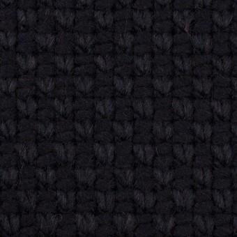 ウール&ポリエステル×無地(ダークネイビー)×斜子織 サムネイル1