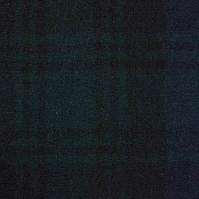 ウール×チェック(ブラックウォッチ)×フラノ(フランネル) イメージ1