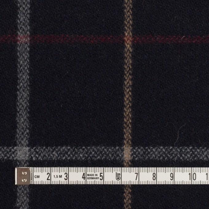 ウール&アクリル混×チェック(ダークネイビー、ベージュ&レッド)×ツイード イメージ4