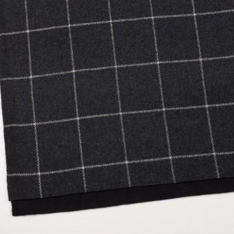 ウール×チェック&無地(チャコールグレー&ブラック)×Wフェイスフラノ サムネイル2