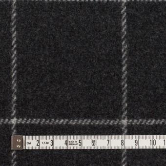 ウール×チェック&無地(チャコールグレー&ブラック)×Wフェイスフラノ サムネイル4