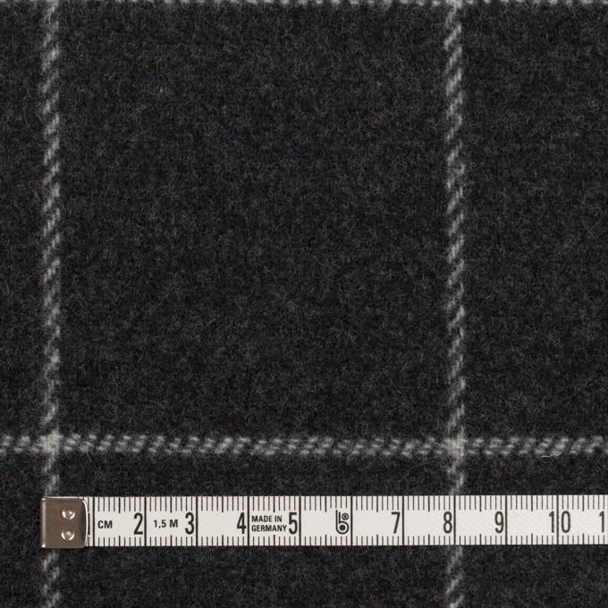 ウール×チェック&無地(チャコールグレー&ブラック)×Wフェイスフラノ イメージ4