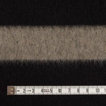 ウール×ボーダー(カーキベージュ&ブラック)×シャギー サムネイル4