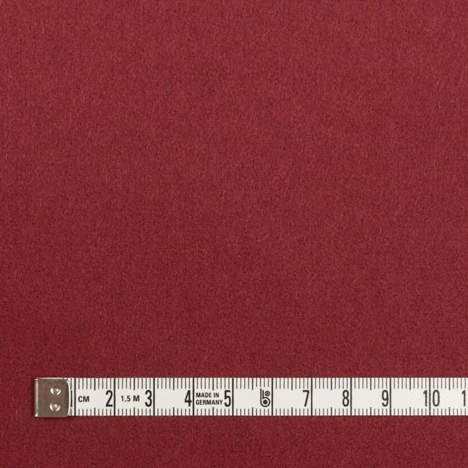 ウール×無地(マルーン)×フラノ(フランネル) イメージ4