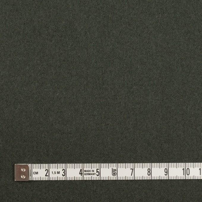 ウール×無地(アッシュカーキグリーン)×カルゼ イメージ4