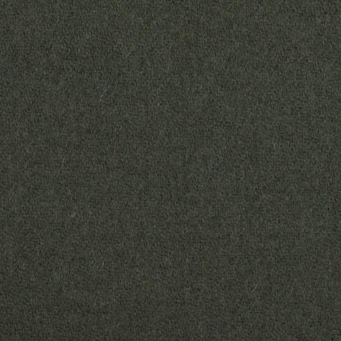 ウール×無地(アッシュカーキグリーン)×カルゼ イメージ1