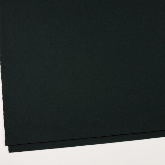 ウール×無地(ディープグリーン)×メルトン イメージ2