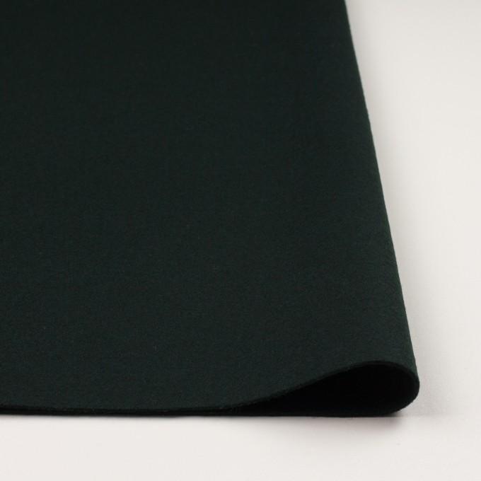 ウール×無地(ディープグリーン)×メルトン イメージ3