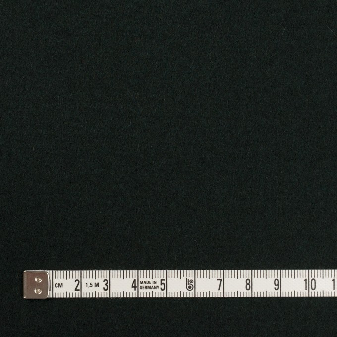 ウール×無地(ディープグリーン)×メルトン イメージ4