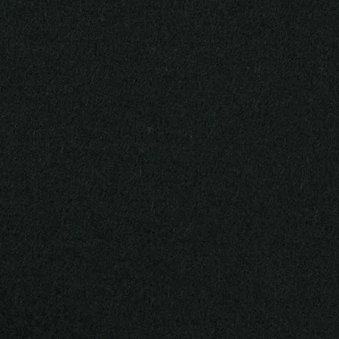 ウール×無地(ディープグリーン)×メルトン イメージ1