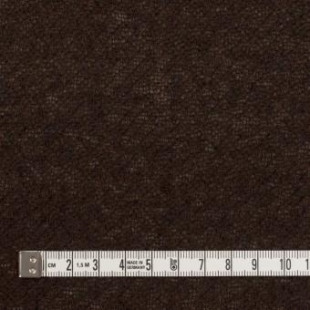 ウール&アクリル混×無地(ダークブラウン)×ガーゼ サムネイル4