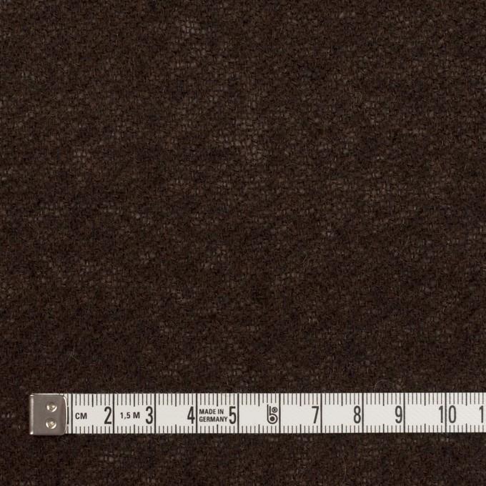 ウール&アクリル混×無地(ダークブラウン)×ガーゼ イメージ4