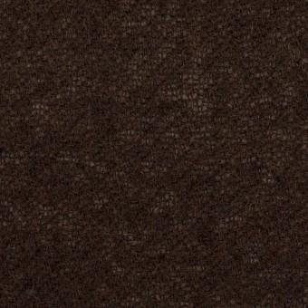 ウール&アクリル混×無地(ダークブラウン)×ガーゼ サムネイル1